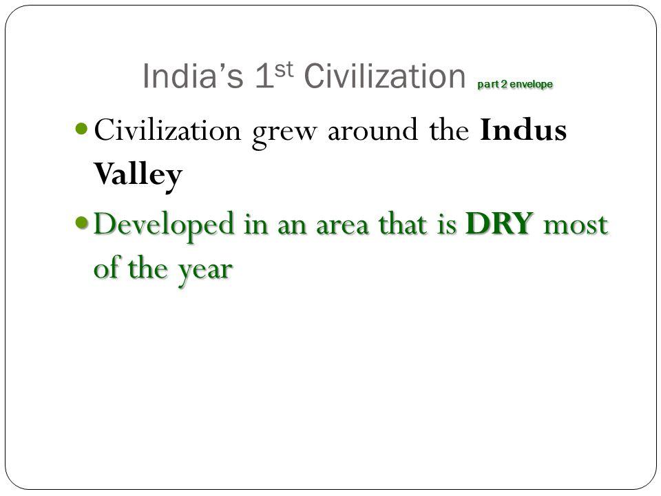 India's 1st Civilization part 2 envelope