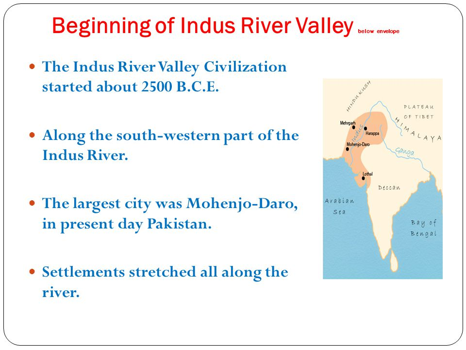 Beginning of Indus River Valley below envelope