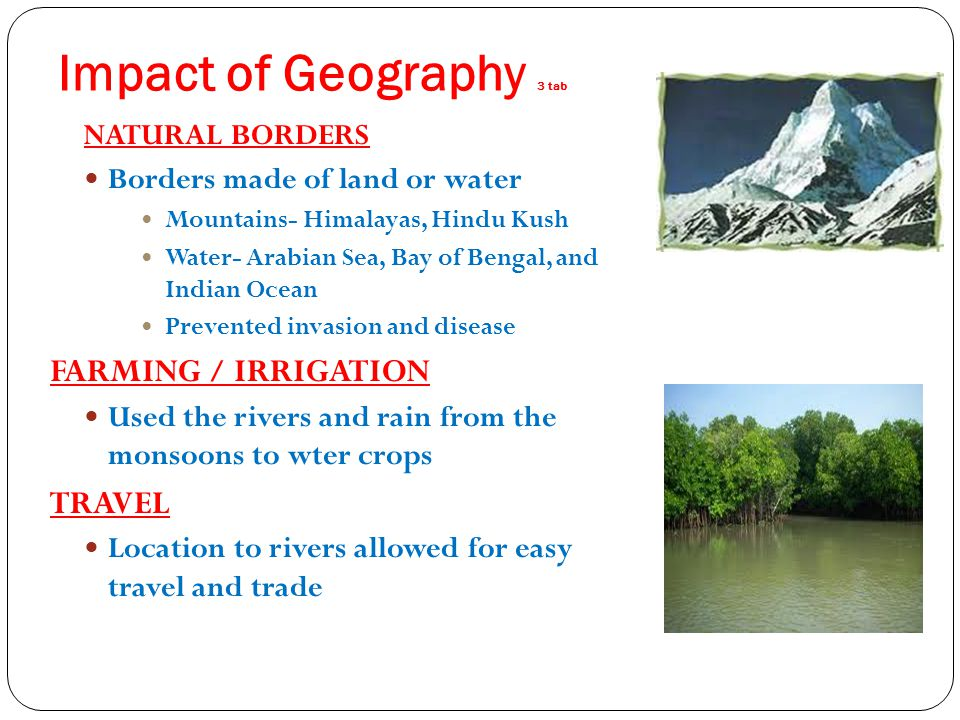 Impact of Geography 3 tab