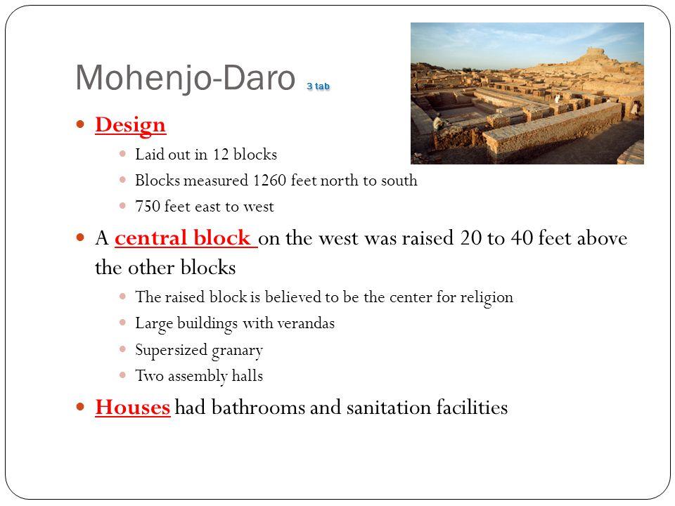 Mohenjo-Daro 3 tab Design