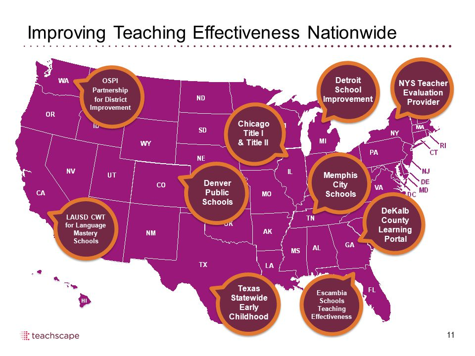 Improving Teaching Effectiveness Nationwide