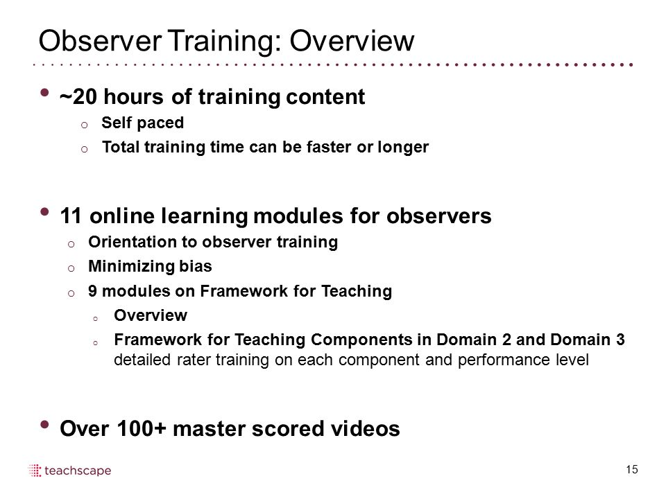Observer Training: Overview