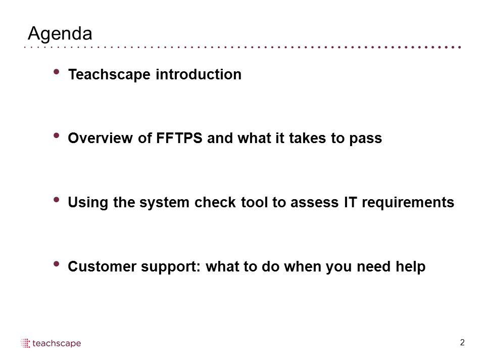 Agenda Teachscape introduction
