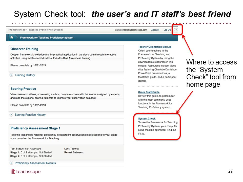 System Check tool: the user's and IT staff's best friend