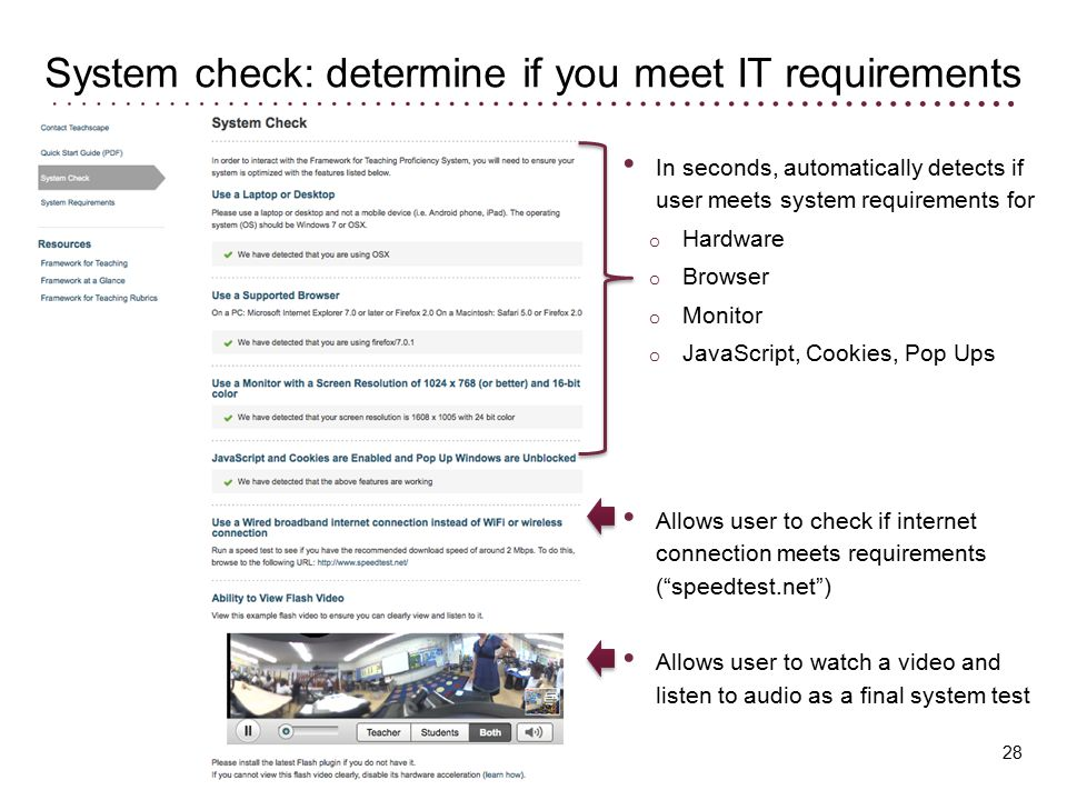 System check: determine if you meet IT requirements