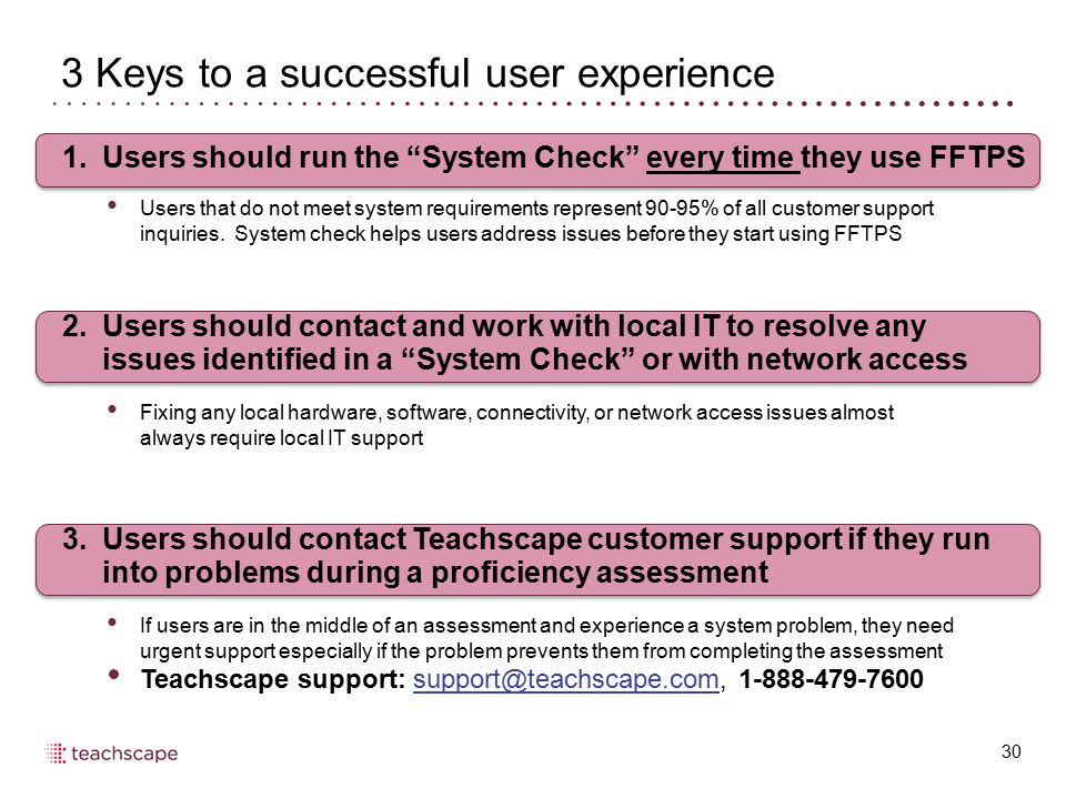 3 Keys to a successful user experience