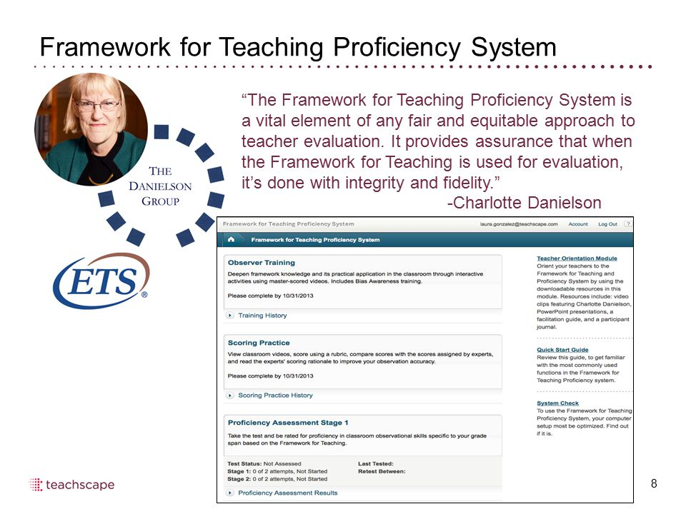 Framework for Teaching Proficiency System