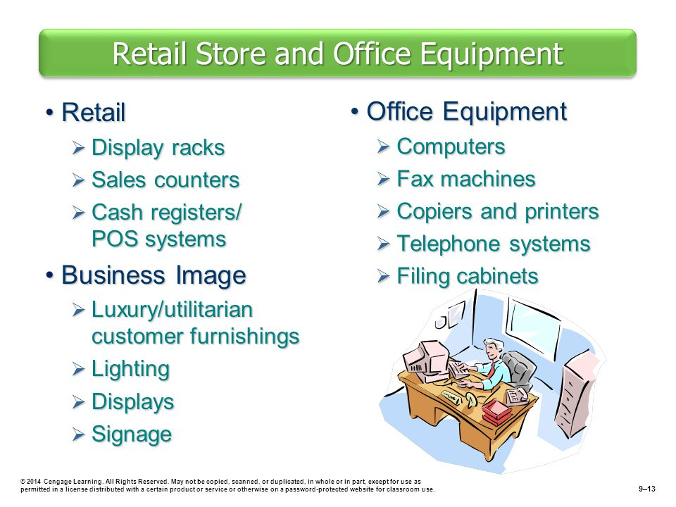 Retail Store and Office Equipment