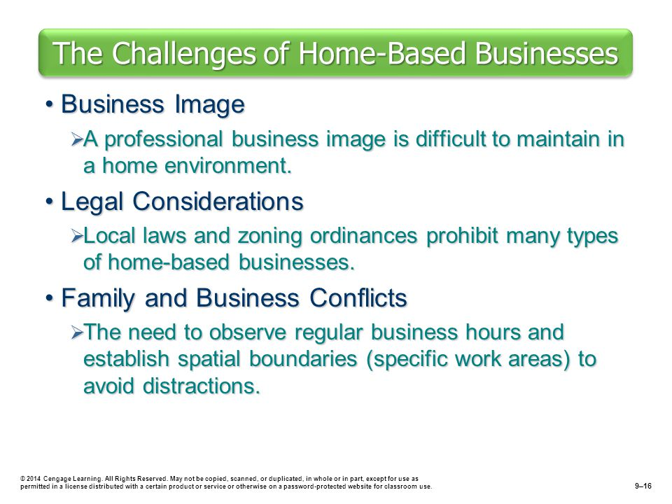 The Challenges of Home-Based Businesses
