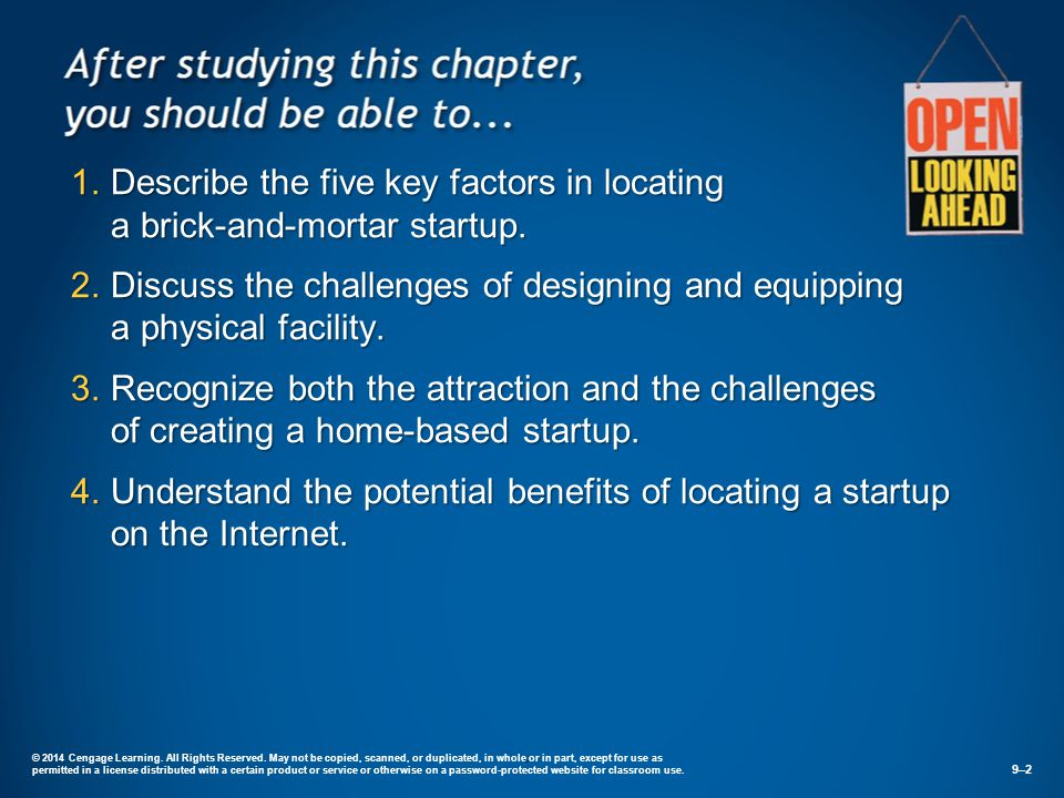 Describe the five key factors in locating a brick-and-mortar startup.