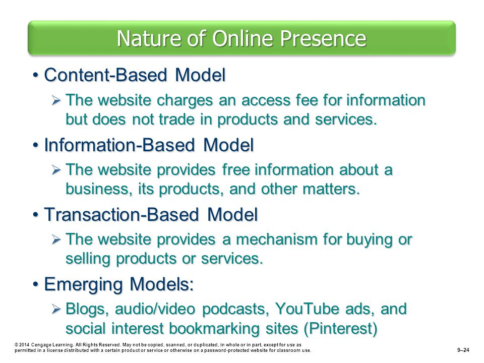 Nature of Online Presence