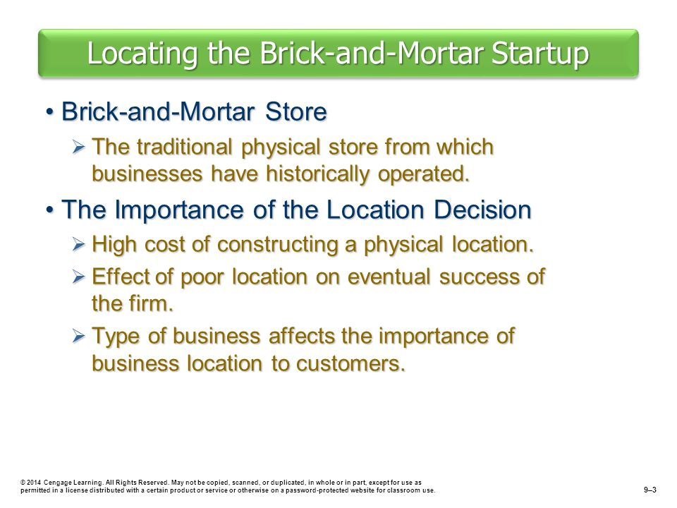Locating the Brick-and-Mortar Startup