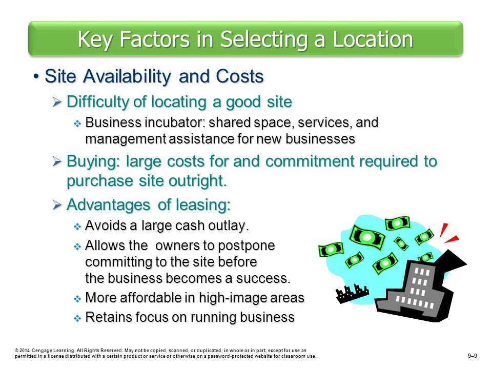 Key Factors in Selecting a Location
