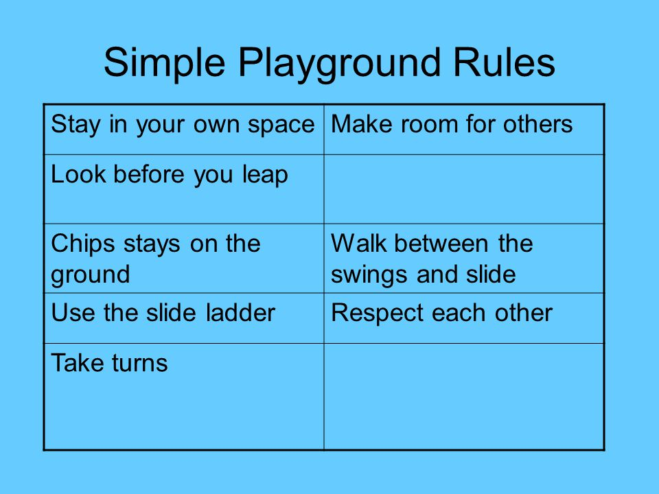 Simple Playground Rules