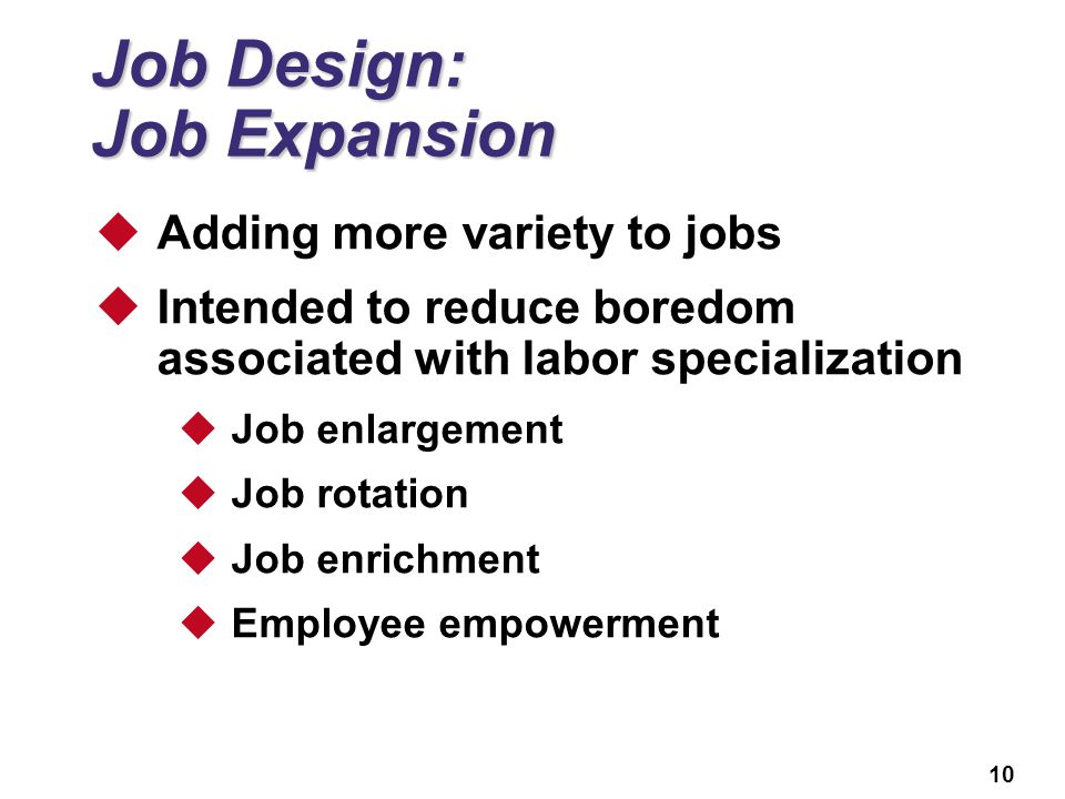 hr and job design Job design follows job analysis job design essentially involves integrating job responsibilities or content and certain qualifications that are required to perform the same.
