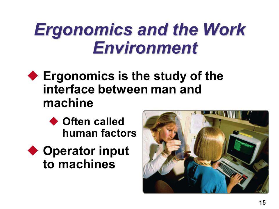Ergonomics and the Work Environment