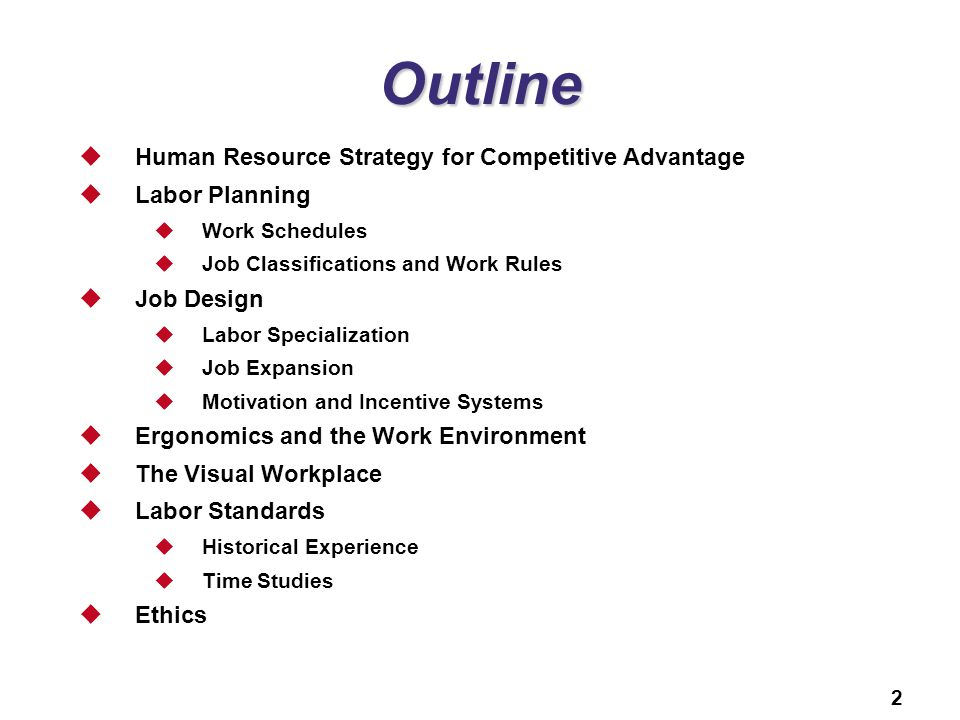 Outline Human Resource Strategy for Competitive Advantage