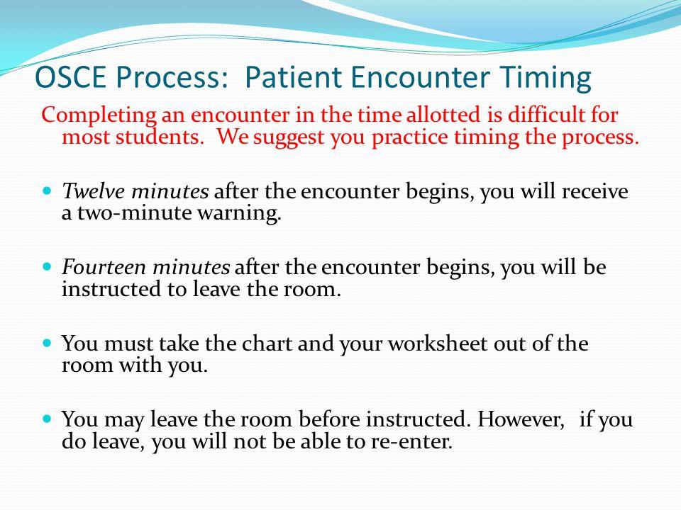 OSCE Process: Patient Encounter Timing
