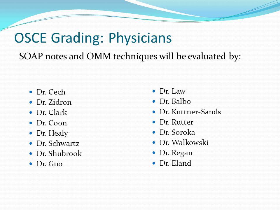 OSCE Grading: Physicians
