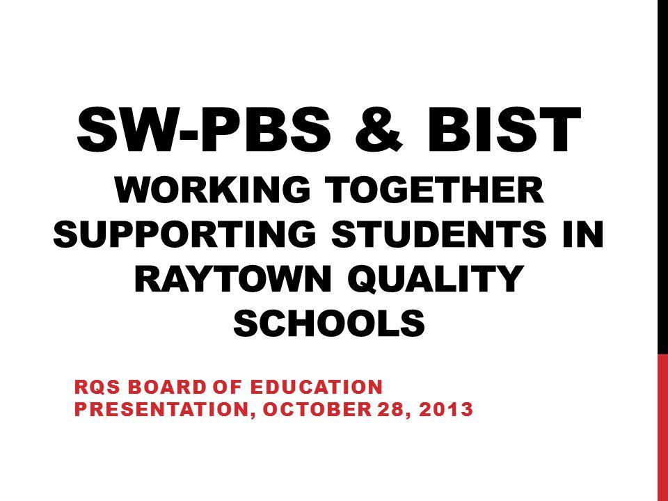RQS Board of education presentation, October 28, 2013