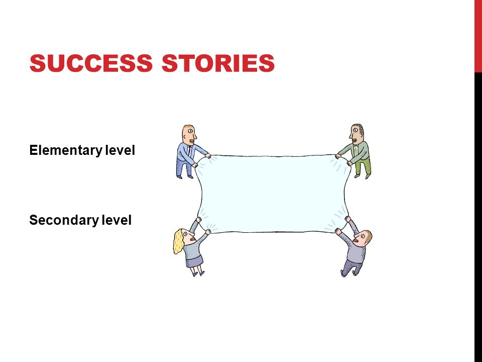 Success stories Elementary level Secondary level