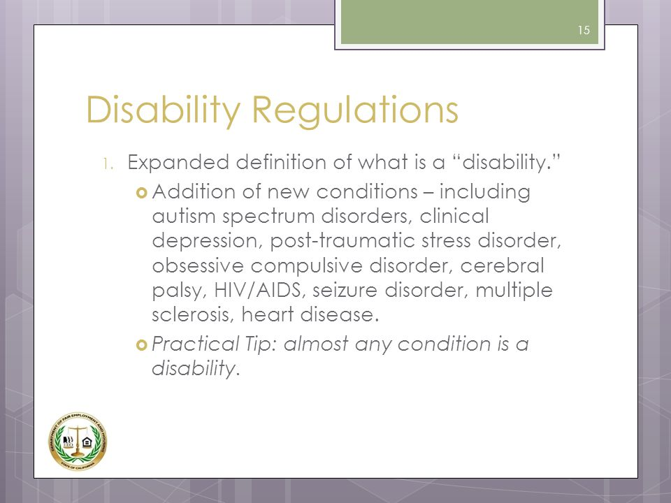 Disability Regulations