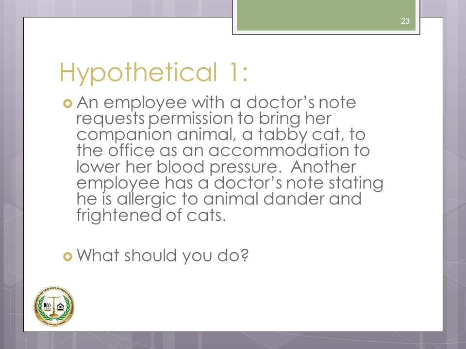 Hypothetical 1: