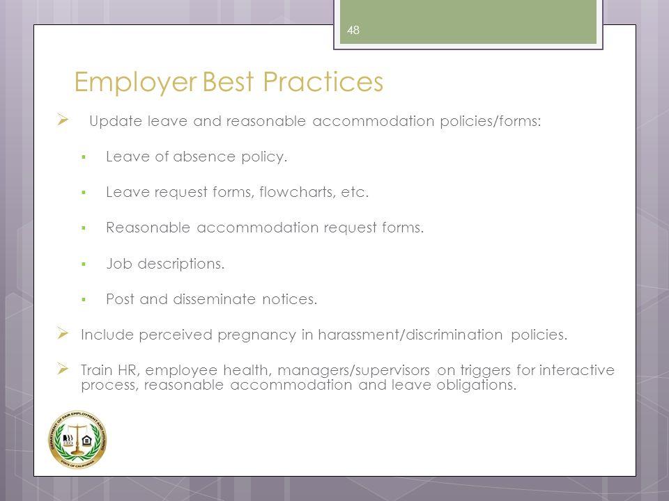 Employer Best Practices