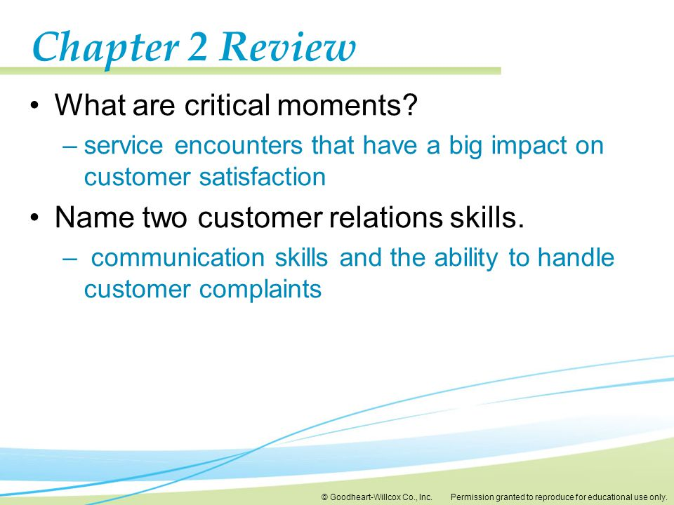 Chapter 2 Review What are critical moments
