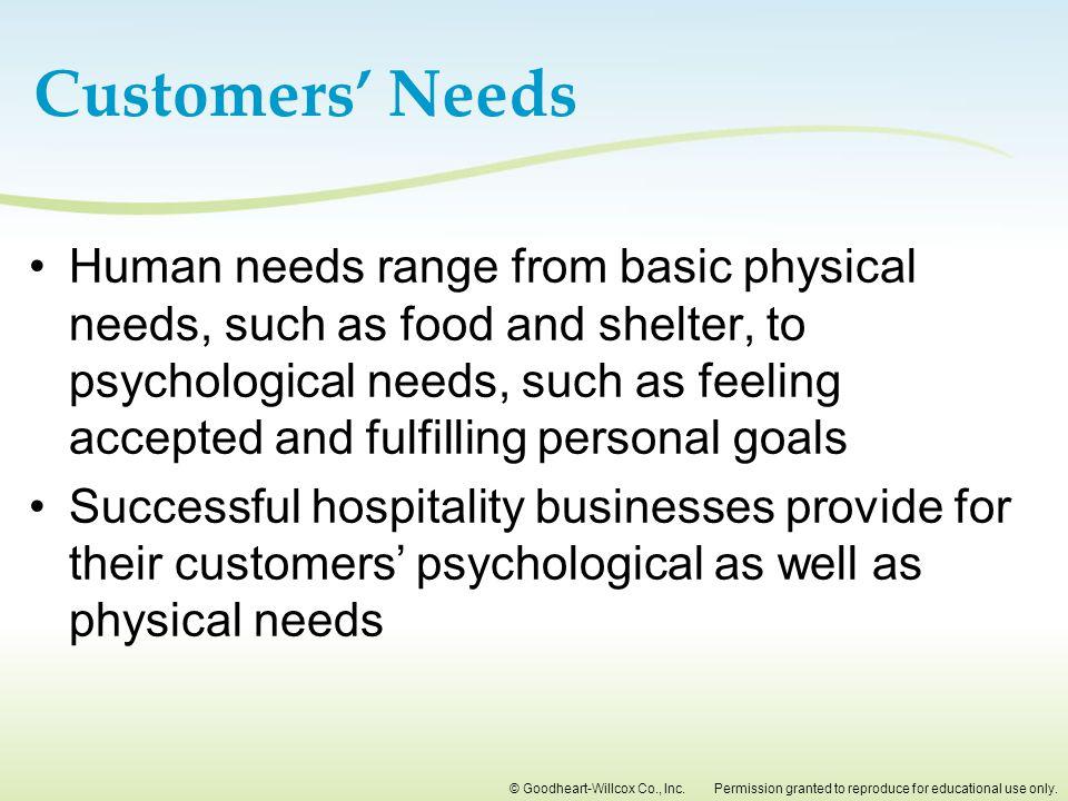 Customers' Needs