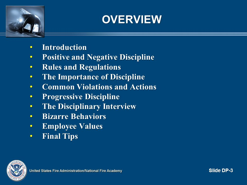 OVERVIEW Introduction Positive and Negative Discipline
