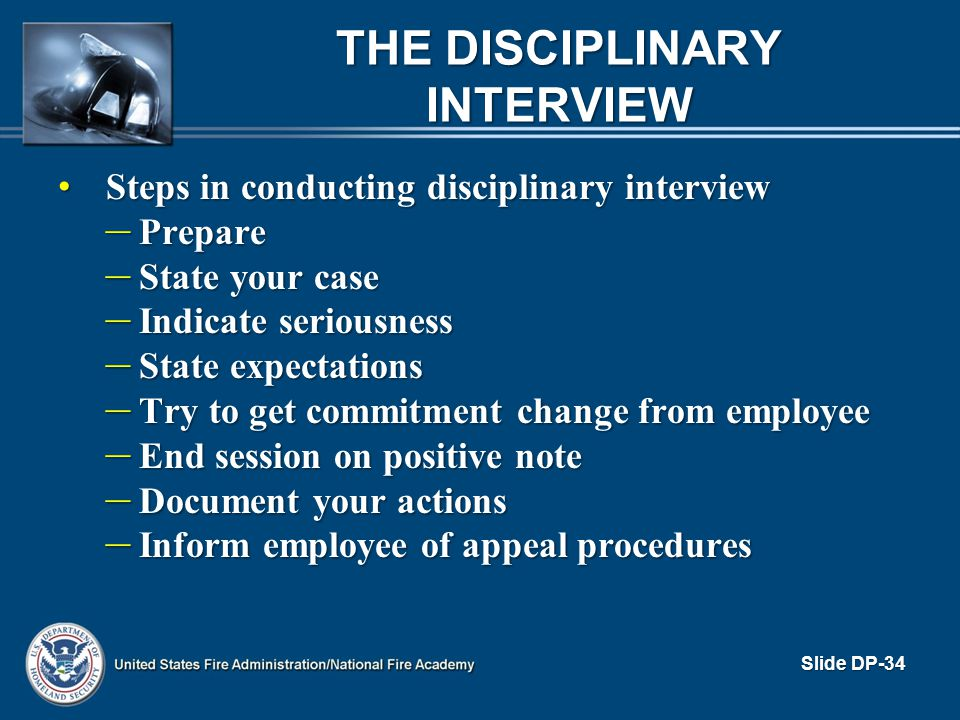 The Disciplinary Interview