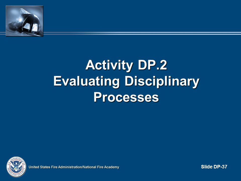 Activity DP.2 Evaluating Disciplinary Processes