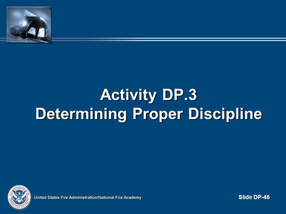 Activity DP.3 Determining Proper Discipline