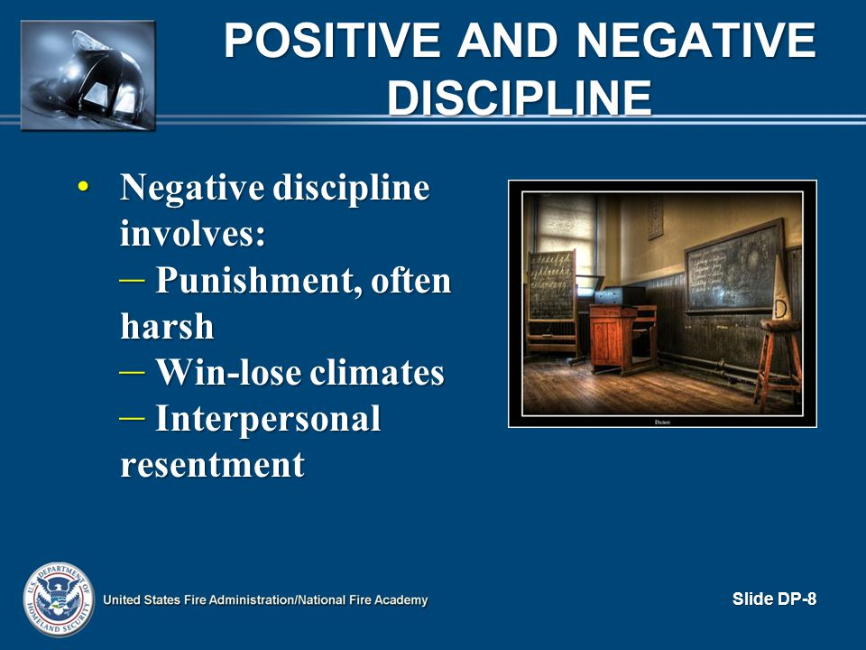 Positive and Negative Discipline