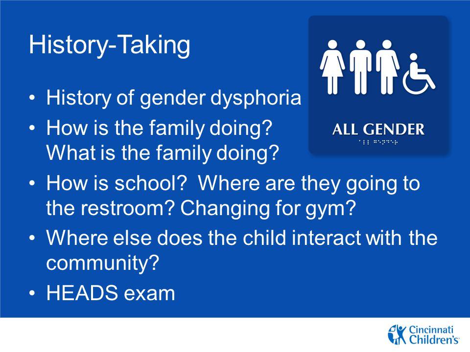 History-Taking History of gender dysphoria