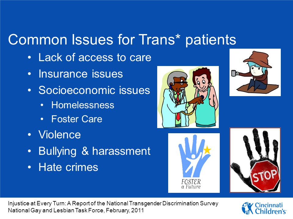 Common Issues for Trans* patients