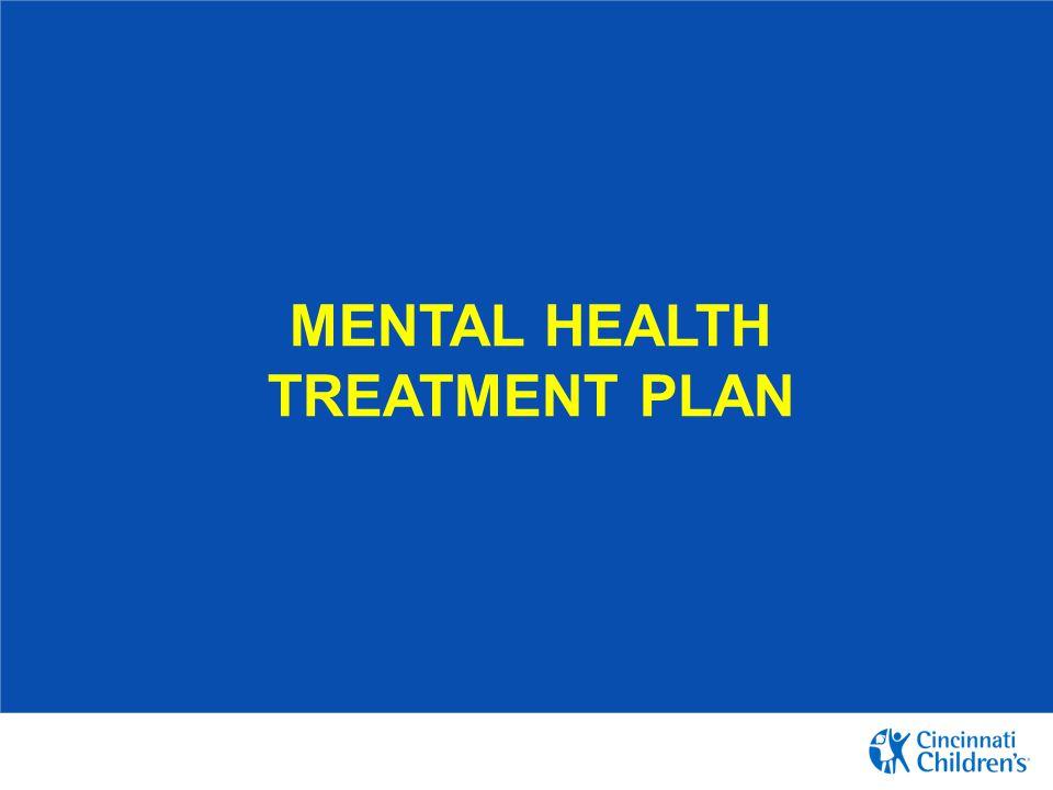 Mental health treatment plan
