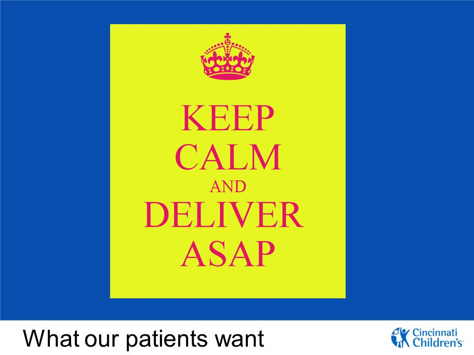 What our patients want