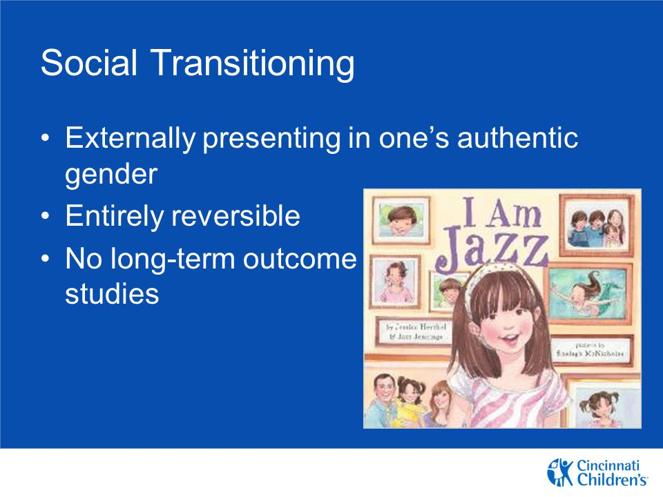 Social Transitioning Externally presenting in one's authentic gender