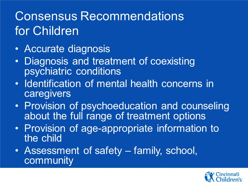 Consensus Recommendations for Children
