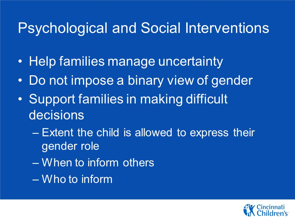 Psychological and Social Interventions