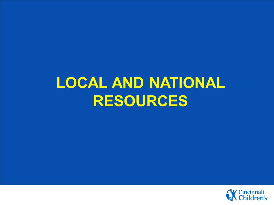 Local and National resources
