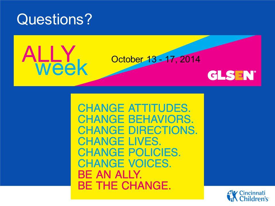 Questions October 13 - 17, 2014