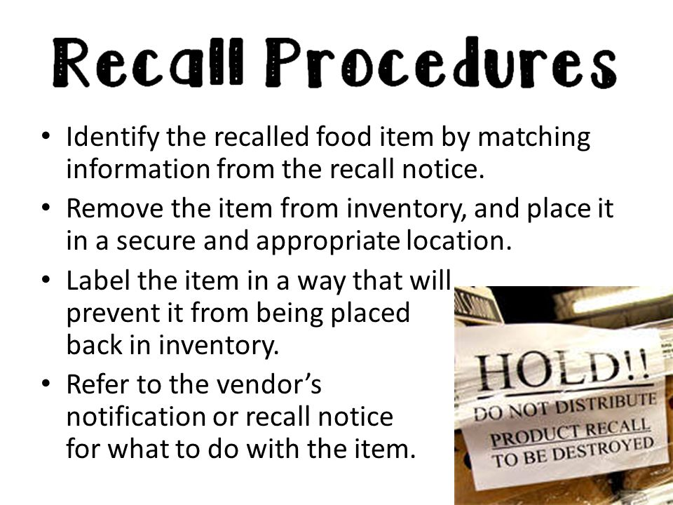 Identify the recalled food item by matching information from the recall notice.