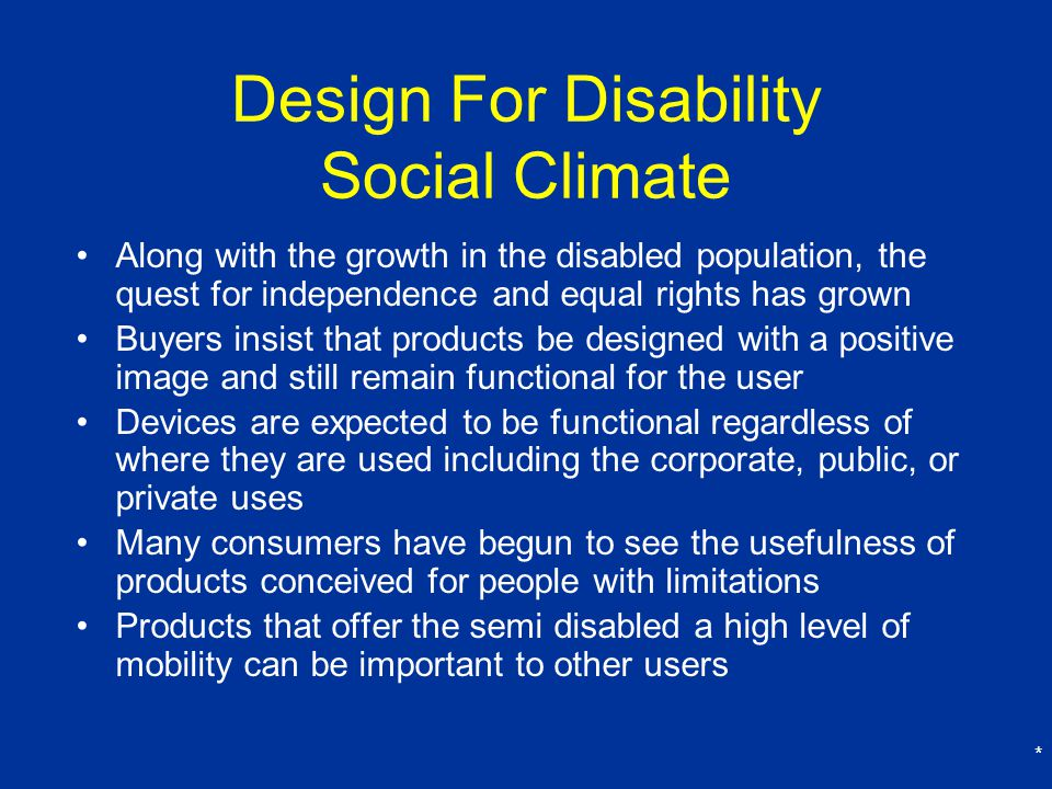 Design For Disability Social Climate