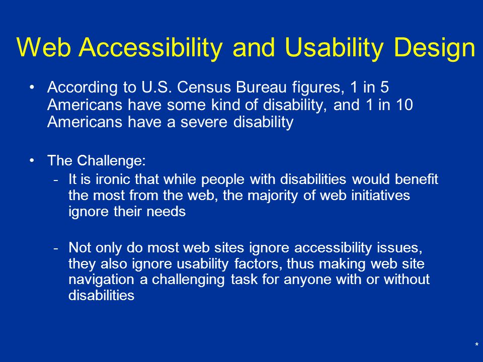 Web Accessibility and Usability Design
