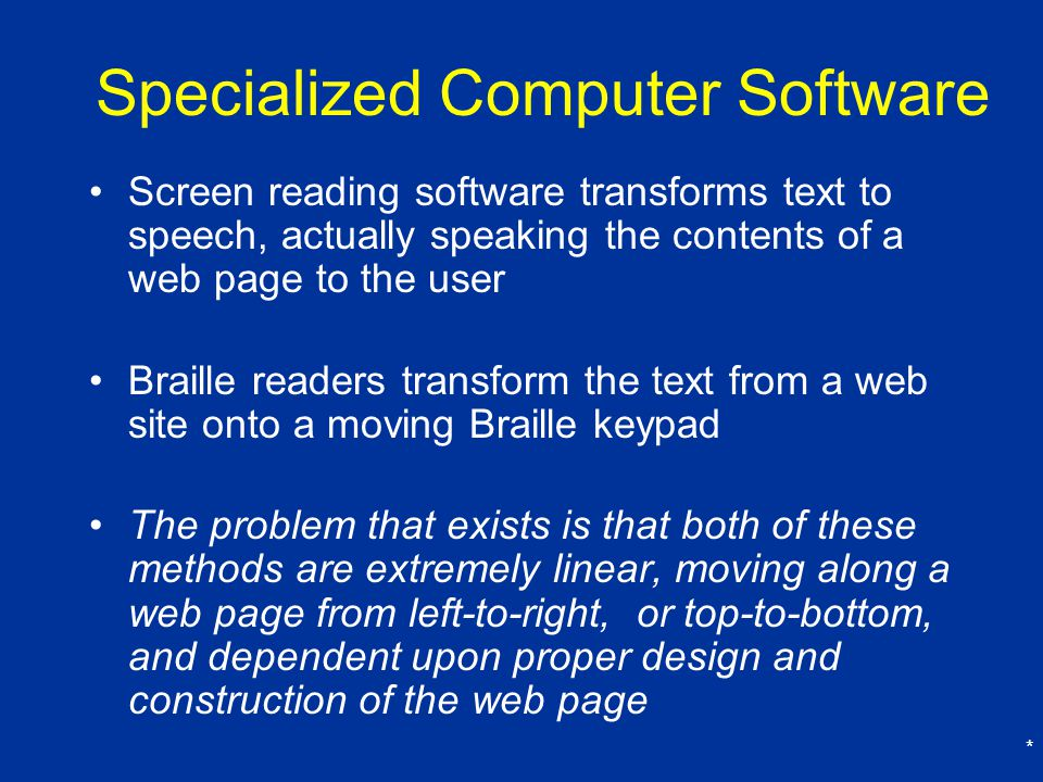 Specialized Computer Software