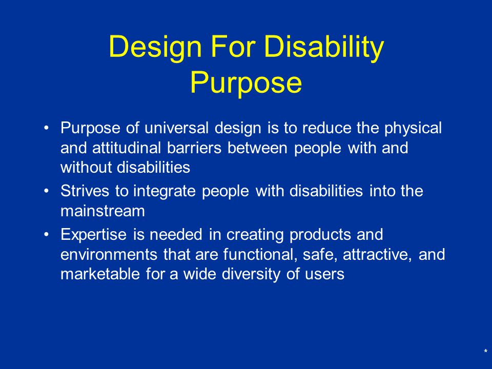 Design For Disability Purpose