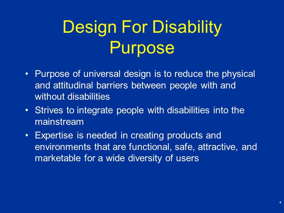 Design For Disability Purpose